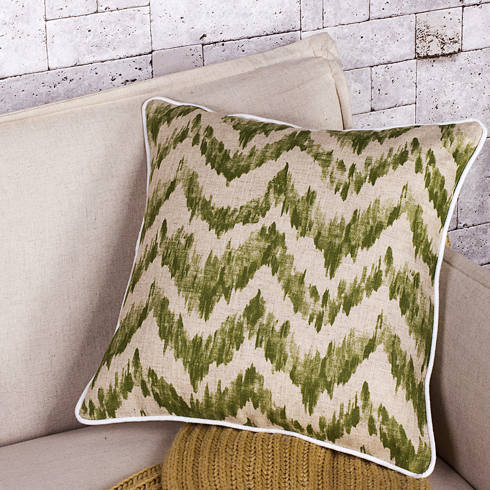 Green Weaving Printing Hot Sale Fashion Home Decoration Cushion Case
