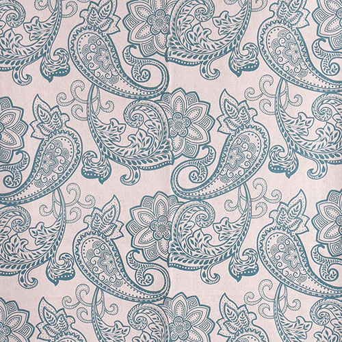Light Blue Classical Design Linen Cotton Printing Furniture Fabric