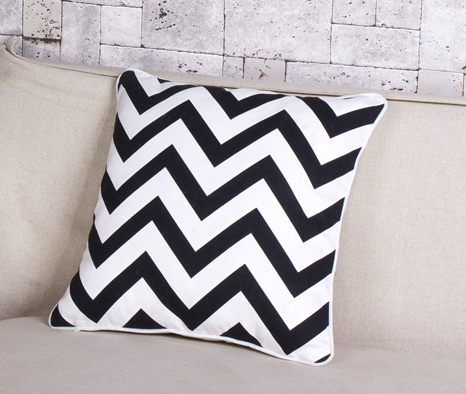 White And Black Weaving Printing Pillow Case Cushion Cover